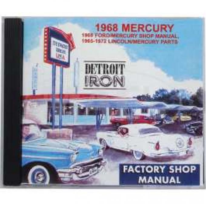 Shop Manual & Parts Manual On CD-Rom, Mercury, 1968