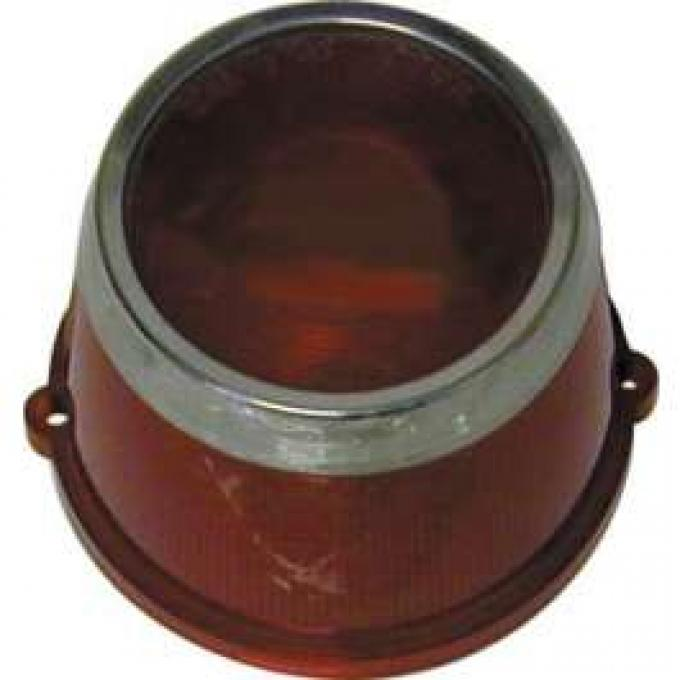 Tail Light Lens - With Chrome Ring - Without Hole For Backup Lights