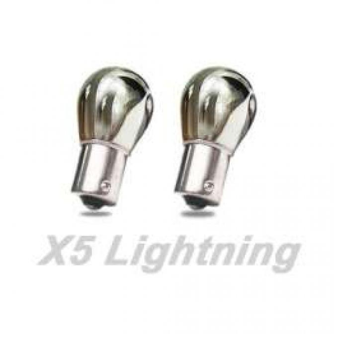 Light Bulbs, 1156, Chrome X5 Lightning White Silver Stealth