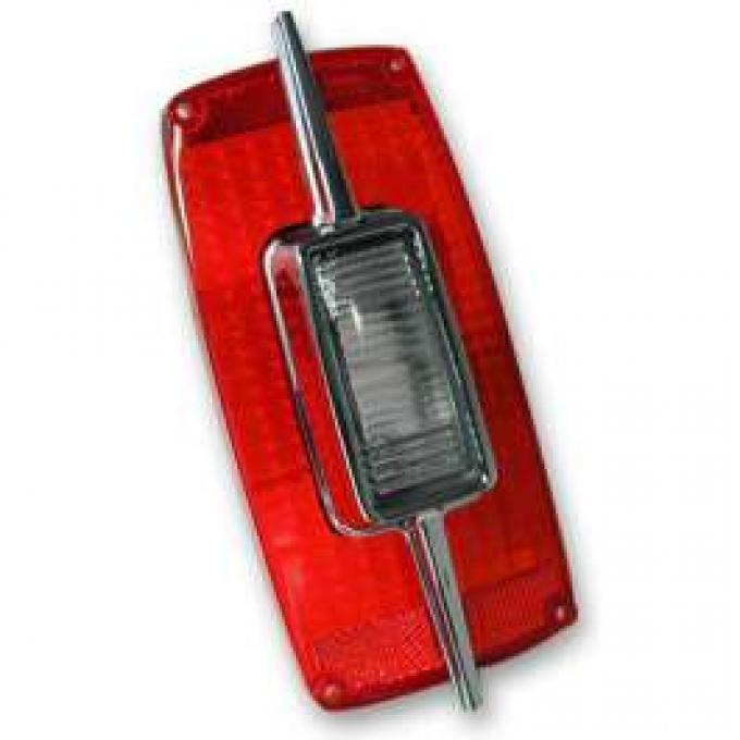 Tail Light Lens - Includes Backup Lens and Chrome Trim - Right Or Left