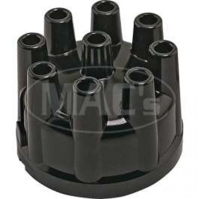 Distributor Cap - Aluminum Contacts - Black