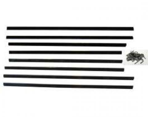 Belt Weatherstrip Kit - Doors and Rear Quarter Windows - 8 Pieces - 2 Door Hardtop