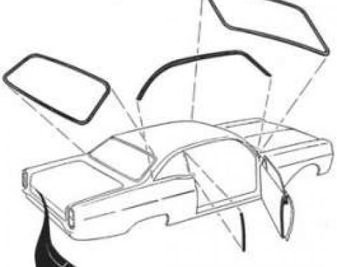 Weatherstrip Kit - Includes 7 Seals -Door Sedan