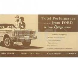 Owner's Manual Supplement, Falcon Sprint, 1964