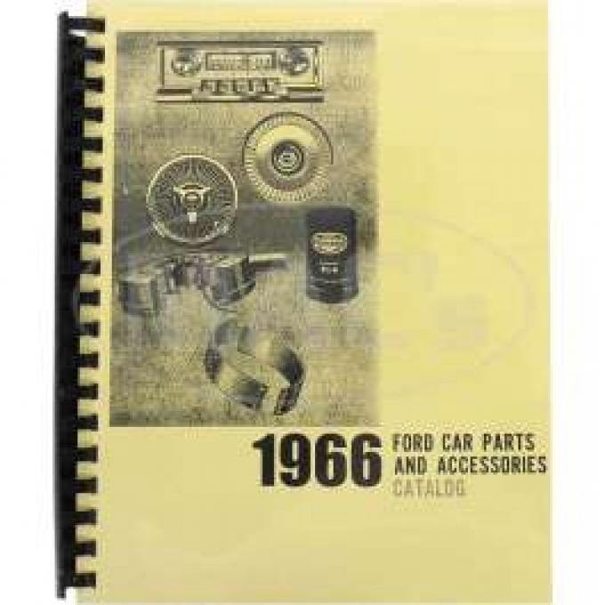 Car Parts And Accessories Manual, Ford, 1966