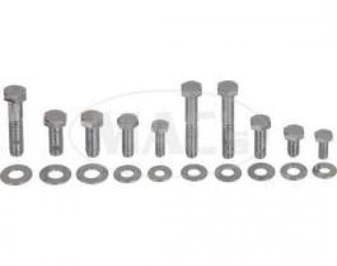 Engine Hardware Kit (Small Block, Standard Exhaust, Stainless)