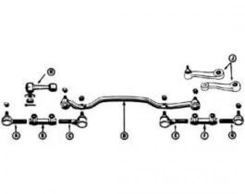 Tie Rod - Outer - Left - From 6-10-64 - With Power Steering - V8