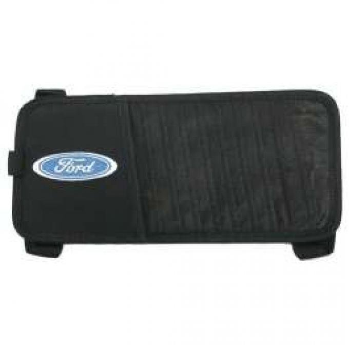 Ford CD Organizier,Visor Mount,With Ford Blue Oval Logo