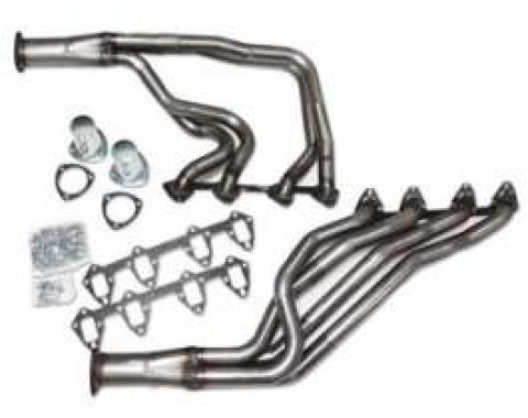 Four Tube Header, Bare Steel, For C-4 Automatic Transmission, 289,302, Fairlane, Ranchero, Torino, 1966-1971