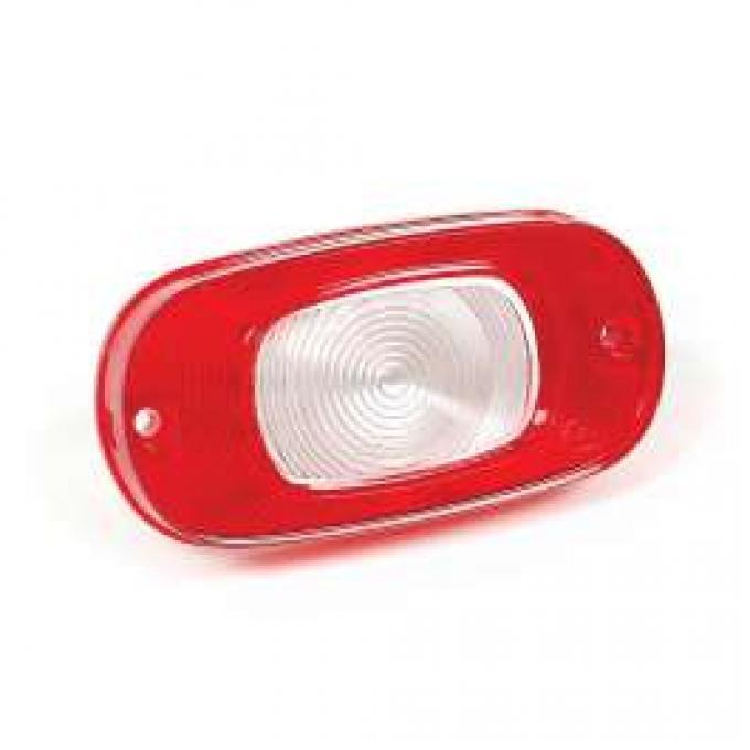 Backup Light Lens - Red Plastic Outer With White Plastic Center - Mercury
