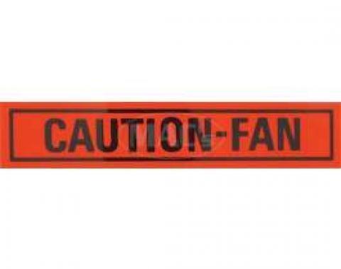 Caution Fan Decal, Comet, 1967-1968