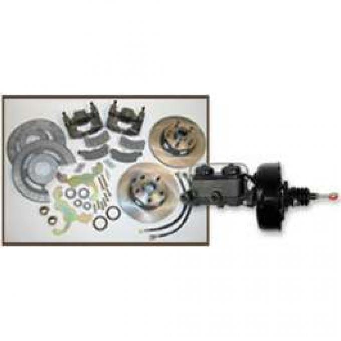 Front Disc Brake Conversion Kit, With Power Booster & Master Cylinder, Montego, Ranchero, Torino, 1972-1979