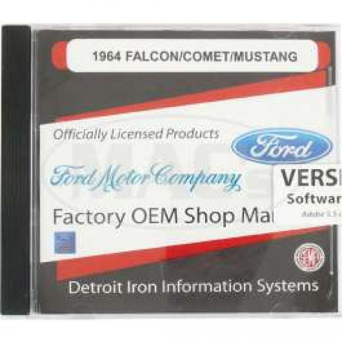 Shop Manual & Parts Manual On CD-Rom, Comet, Falcon, Ranchero, 1964