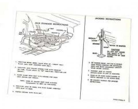 Jack Instructions Decal - C6AZ-17095-H
