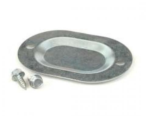 Drain Hole Cover Plate - Floor Pan - Oval - Steel