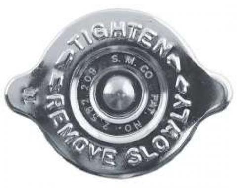 Radiator Cap - 14 PSI. - Chrome Plated - S.M. CO Logo