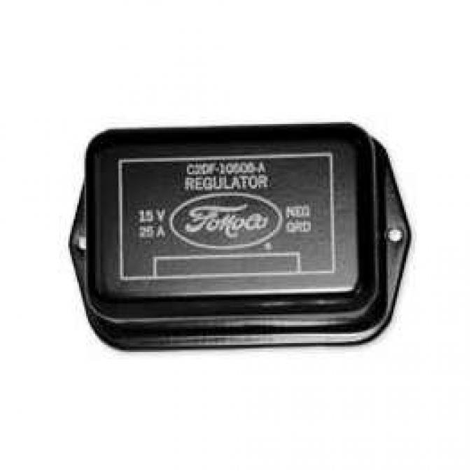 Voltage Regulator Cover - Black With Yellow Lettering - 25 Amp