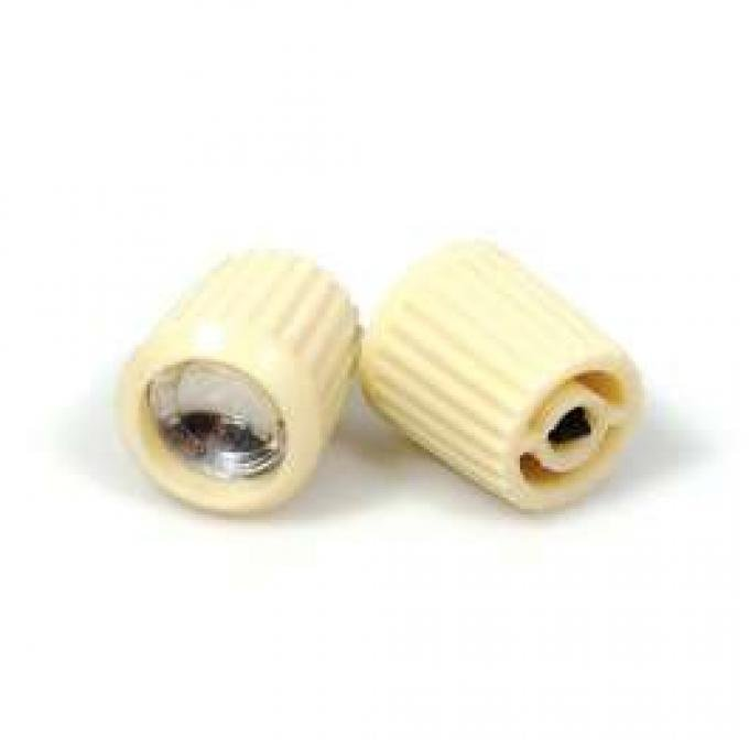Radio Knob - White - For Split Shaft