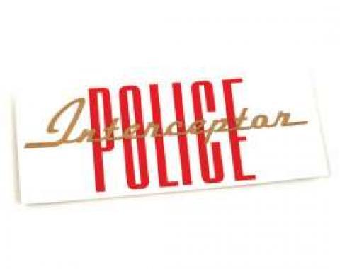Valve Cover Decal - Police Interceptor