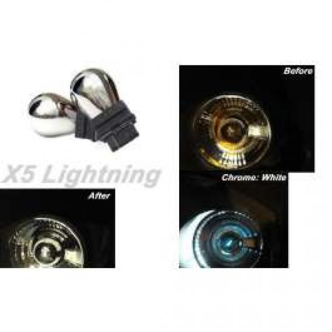 Light Bulbs, 3157, Chrome X5 Lightning White Silver Stealth