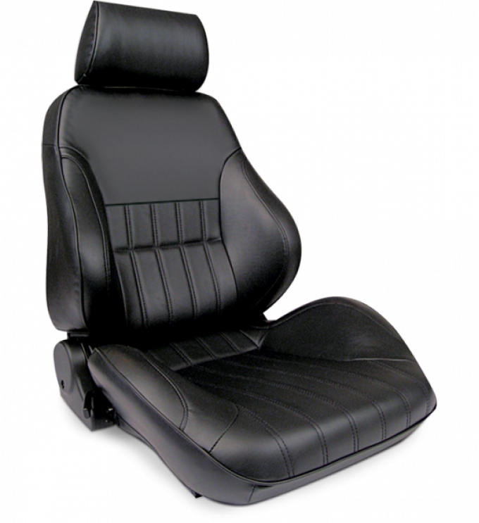 Procar Smoothback Rally Seat, with Headrest, Right, Vinyl