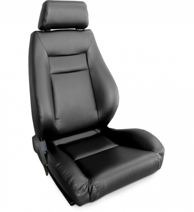 Procar Elite Seat, Right, Black Leather