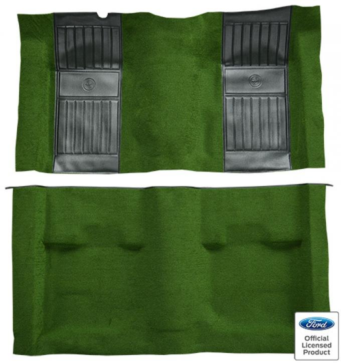 ACC  Ford Mustang Mach I with 2 Green Running Pony Inserts Fastback Nylon Carpet, 1971-1973