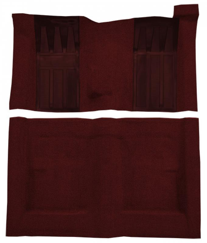 ACC  Ford Torino GT 2DR Hardtop/Fastback 4spd with 2 Maroon Inserts Loop Carpet, 1970-1971
