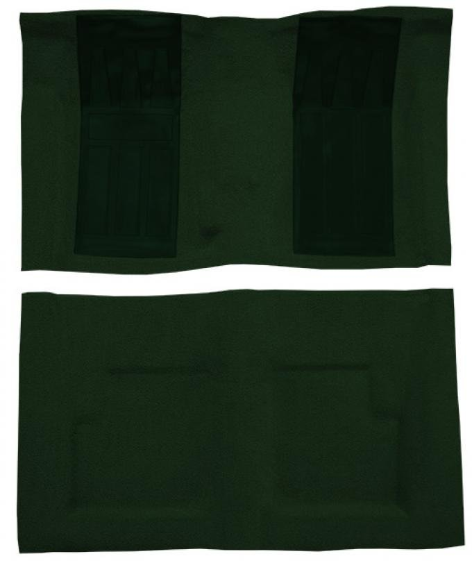 ACC  Ford Torino GT 2DR Convertible 4spd with 2 Dark Green Inserts Loop Carpet, 1970-1971