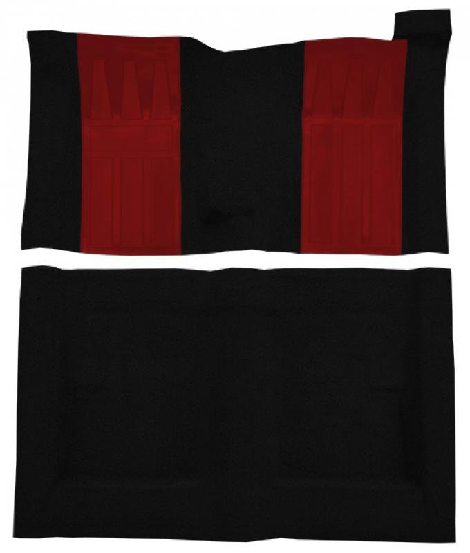 ACC  Ford Torino GT 2DR Hardtop/Fastback 4spd with 2 Red Inserts Loop Carpet, 1970-1971