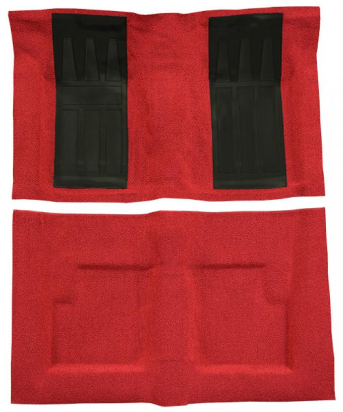 ACC  Ford Torino GT 2DR Convertible Auto with 2 Black Inserts Loop Carpet, 1969-1971