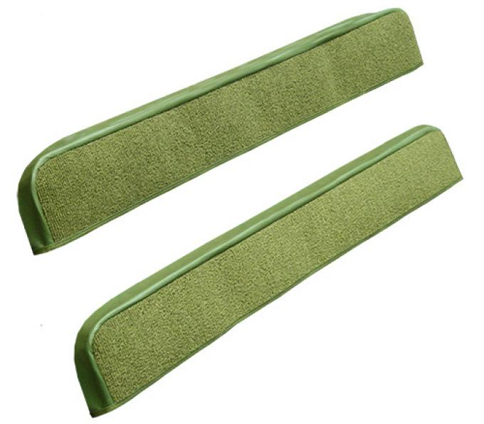 ACC  Ford Mustang Door Panel Inserts with Binding 2pc Nylon Carpet, 1971-1973
