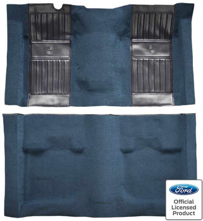 ACC  Ford Mustang Mach I with 2 Dark Blue Running Pony Inserts Fastback Nylon Carpet, 1971-1973
