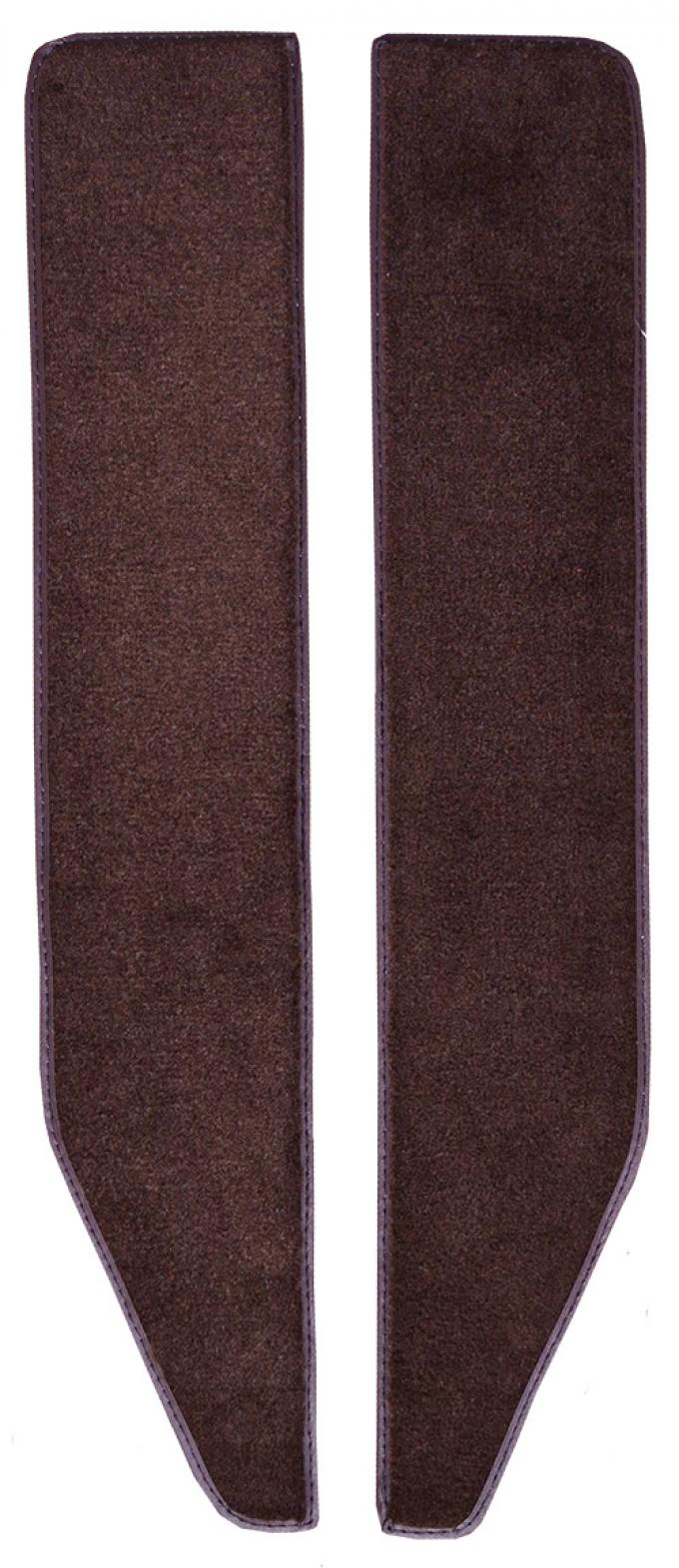 ACC  Ford F-250 Door Panel Inserts with Cardboard 2pc Loop Carpet, 1973