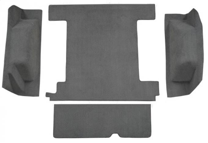 ACC  Ford Bronco 1 Gas Tank with Tailgate Lock Cargo Area Cutpile Carpet, 1974-1976