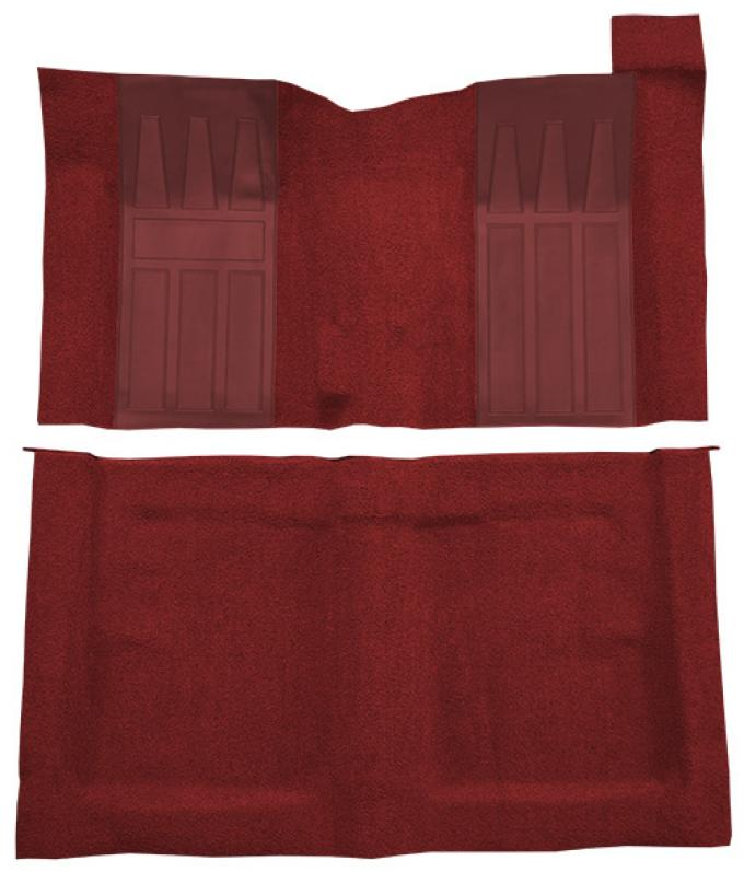 ACC  Ford Ranchero GT 4spd with 2 Maroon Inserts Loop Carpet, 1969-1970
