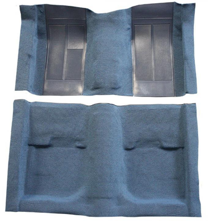 ACC  Ford Mustang Mach I with 2 Medium Blue Inserts Fastback Nylon Carpet, 1970