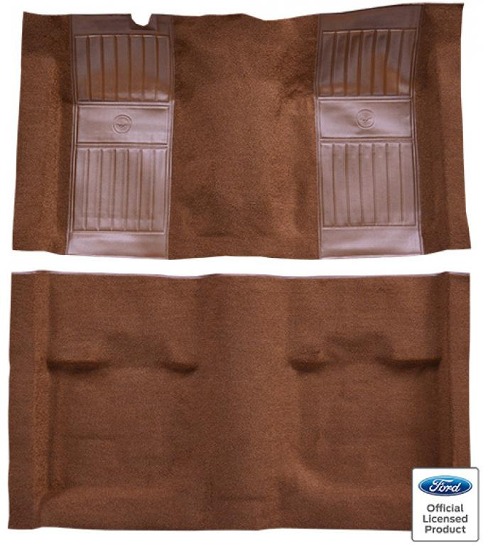 ACC  Ford Mustang Mach I with 2 Ginger Running Pony Inserts Fastback Nylon Carpet, 1971-1973