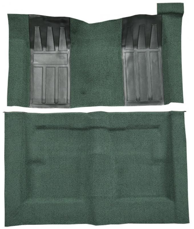 ACC  Ford Torino GT 2DR Hardtop/Fastback Auto with 2 Dark Green Inserts Loop Carpet, 1969-1971