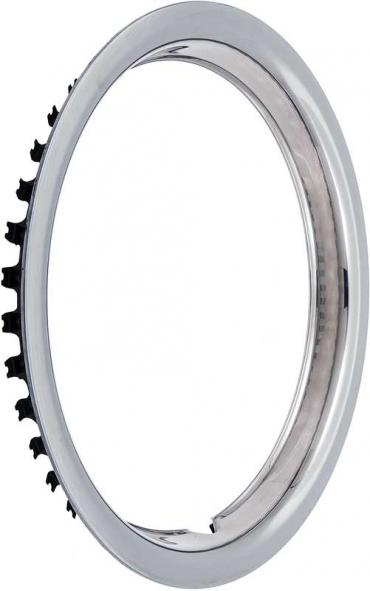 "OER 14"" Stainless Steel 1-1/2"" Deep Round Lip Rally Wheel Trim Ring TK3000"