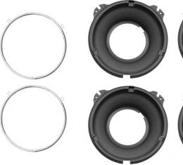 OER 1958-1972 Headlamp Mounting Bucket and Trim Ring Set 14014