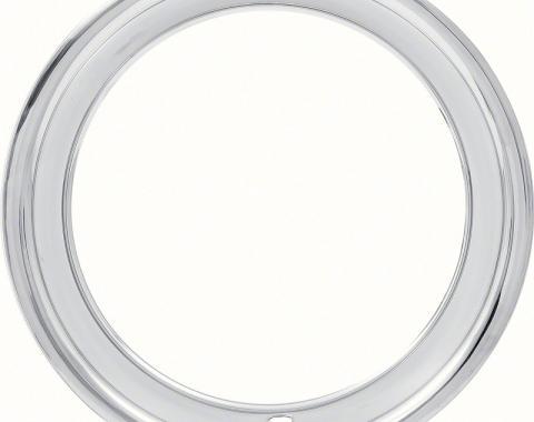 "OER 15"" Stainless Steel 3"" Deep Rally Wheel Trim Ring 97966961"