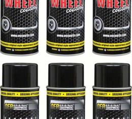 """OER Simulated Magnesium """"Factory Wheel Coating"""" Wheel Paint Case of 6- 16 Oz Cans *K89316"""